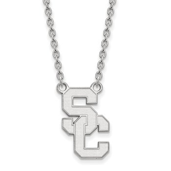 Sterling Silver University of Southern California NCAA Necklace
