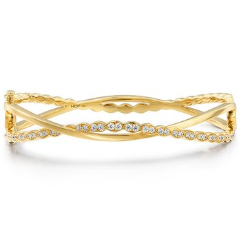 0.8 ctw. Lorelei Floral Twist Bangle