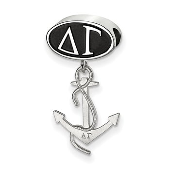 Sterling Silver Delta Gamma Greek Life Bead