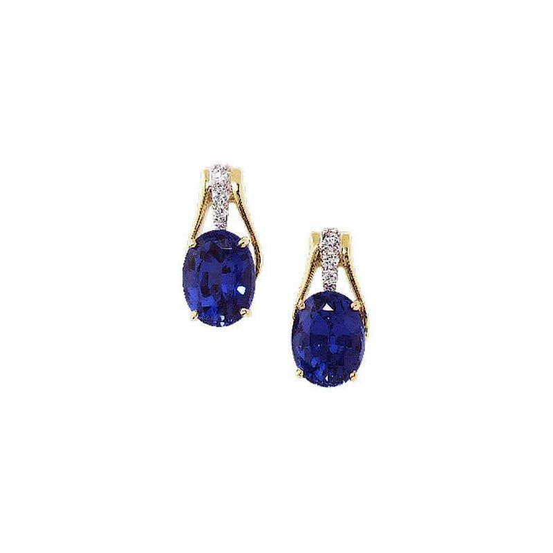 e10b02262 Chatham Blue Sapphire Earrings-CE2627YWBS. Stock # CE2627YWBS