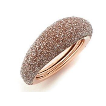 Thin Bombe Polvere Di Sogni Ring - Beige Polvere & Rose Gold