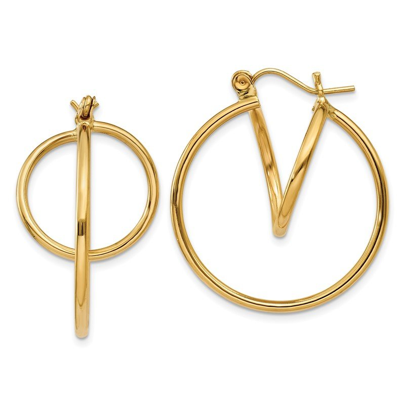 Quality Gold 14k Fashion Circle Hoop Earrings