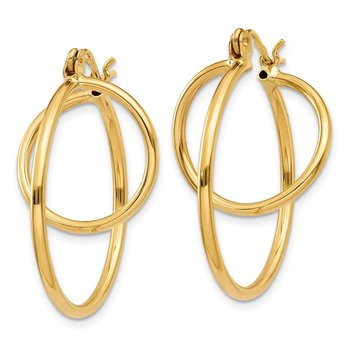 14k Fashion Circle Hoop Earrings