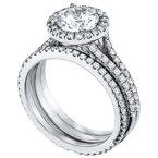 Mark Patterson Split Shank Pave Diamond Engagement Ring