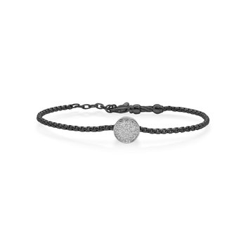 Black Chain Expressions Scattered Bracelet with 14kt White Gold & Diamonds