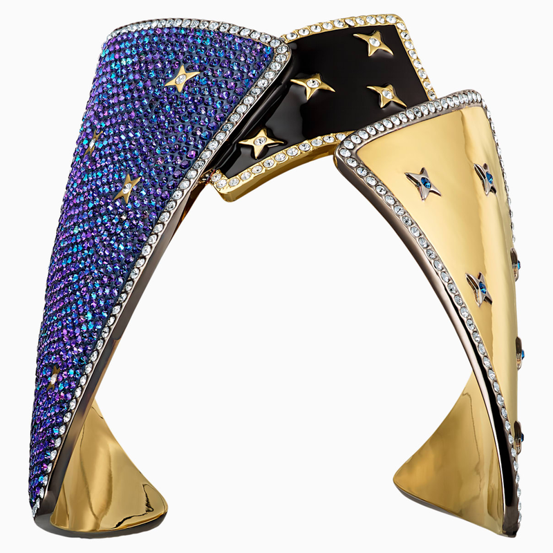 Swarovski Chromancy Cuff, Multi-colored, Mixed metal finish