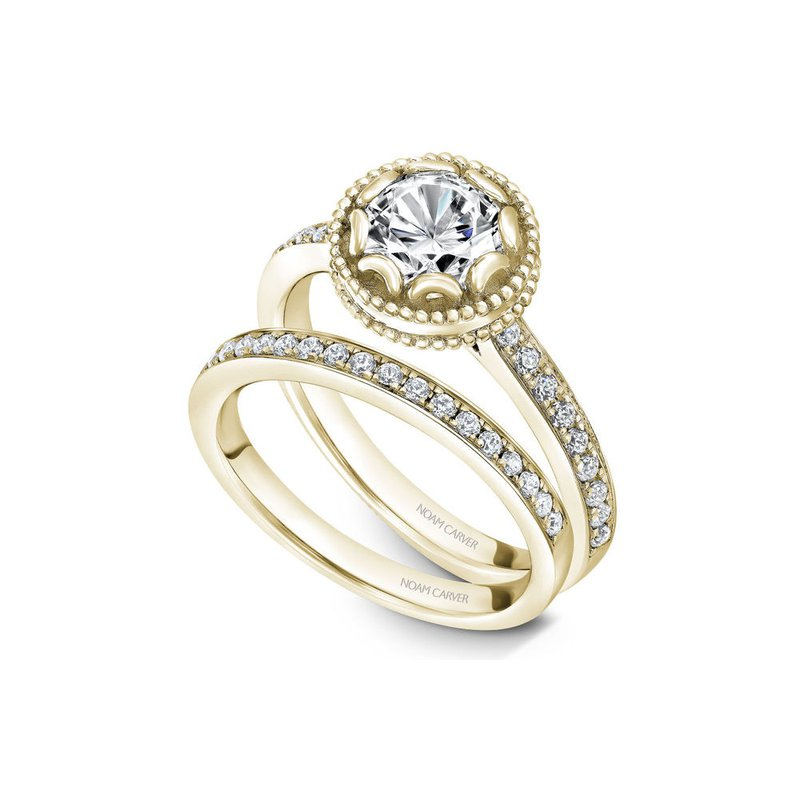 Noam Carver Side-Stone Solitaire Engagement Ring