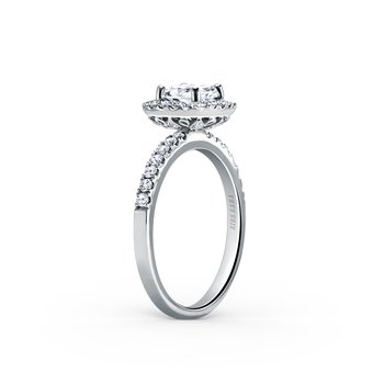 Elegant Halo Diamond Engagement Ring