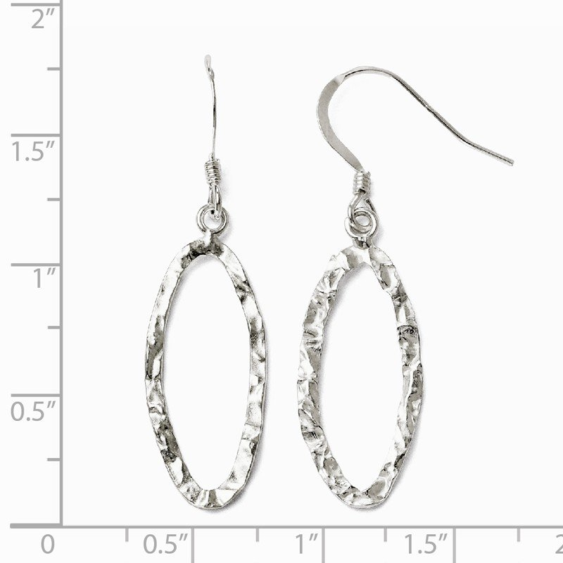 Leslie's Leslie's Sterling Silver D/C Shepherd Hook Dangle Earrings