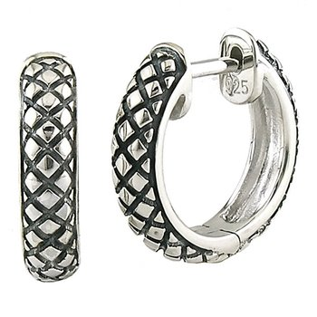 Sterling Silver Round Small Hoop Earrings