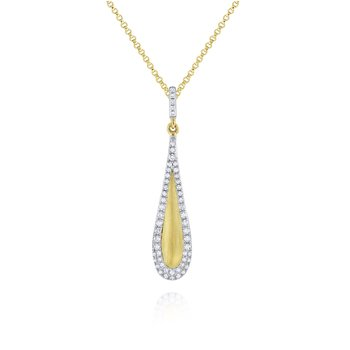 14K Diamond Teardrop Necklace