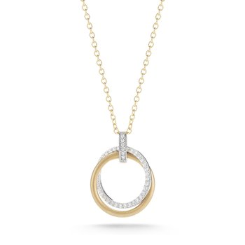 "14K-Y 18mm ""CIRCLE OF LOVE"" PEND., 0.30CT"