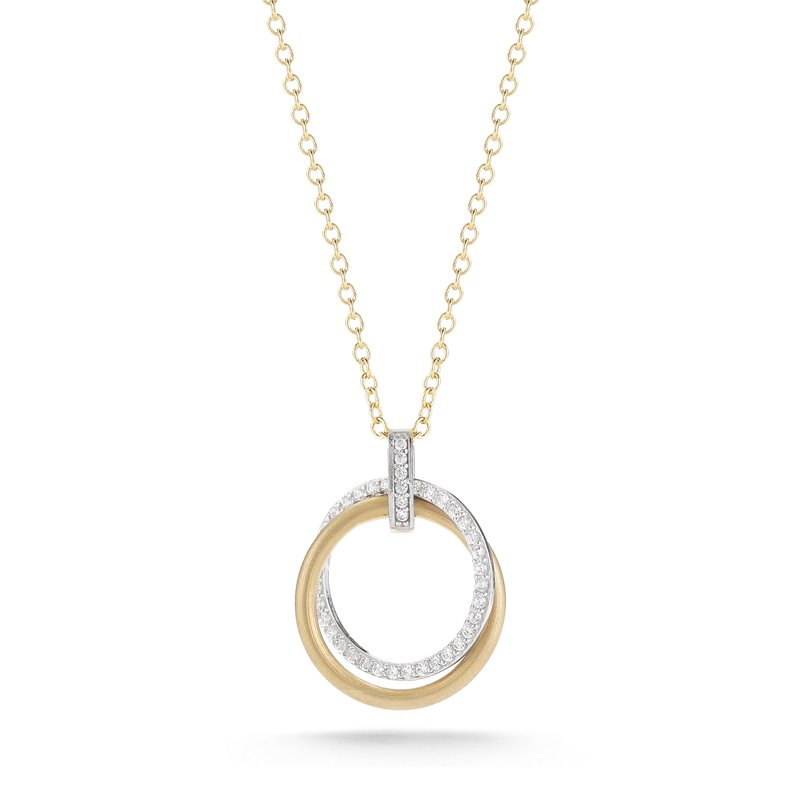 "I. Reiss 14K-Y 18mm ""CIRCLE OF LOVE"" PEND., 0.30CT"