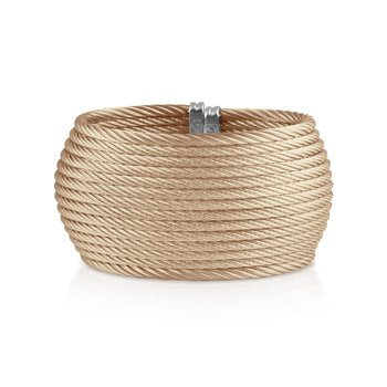 Carnation Cable Oversized Cuff with 18kt Yellow Gold