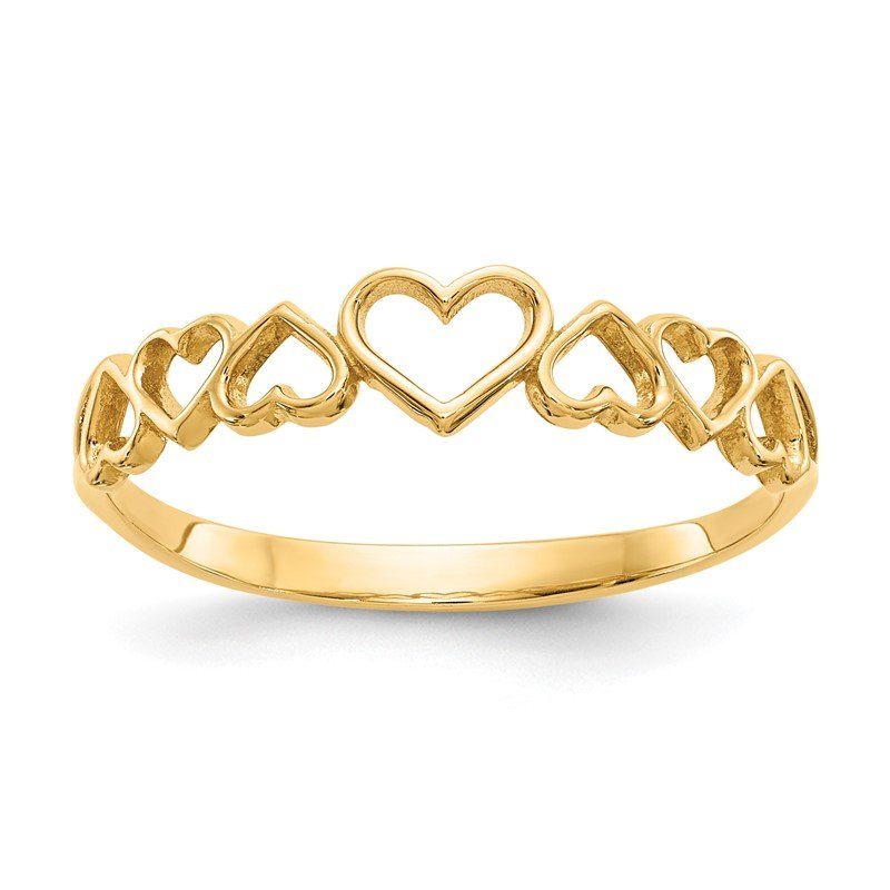 Quality Gold 14k Hearts Ring