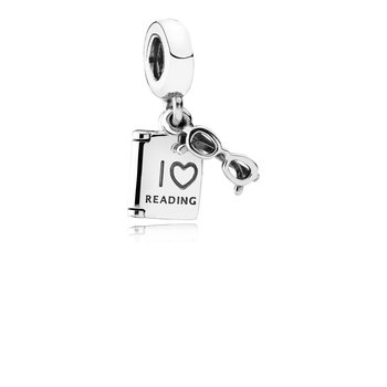 Love Reading Dangle Charm