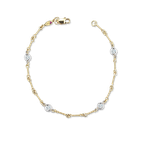 Roberto Coin 18KT GOLD DOGBONE CHAIN BRACELET WITH DIAMONDS