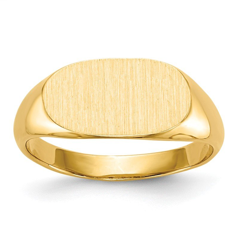 Quality Gold 14k 7.0x13.0mm Closed Back Signet Ring
