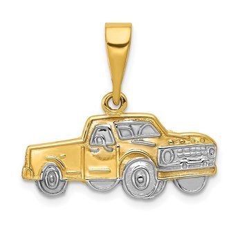 14k w/Rhodium Pick-up Truck Pendant