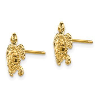 14k Sea Turtle Post Earrings