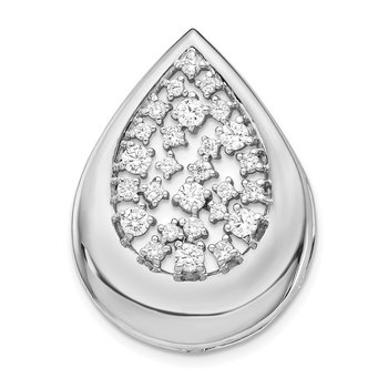 14k White Gold 3/8ct. Diamond Fancy Teardrop Pendant