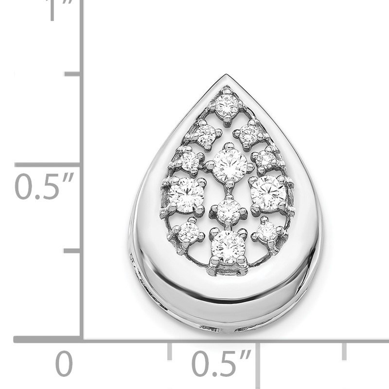 Lester Martin Online Collection 14k White Gold 3/8ct. Diamond Fancy Teardrop Pendant