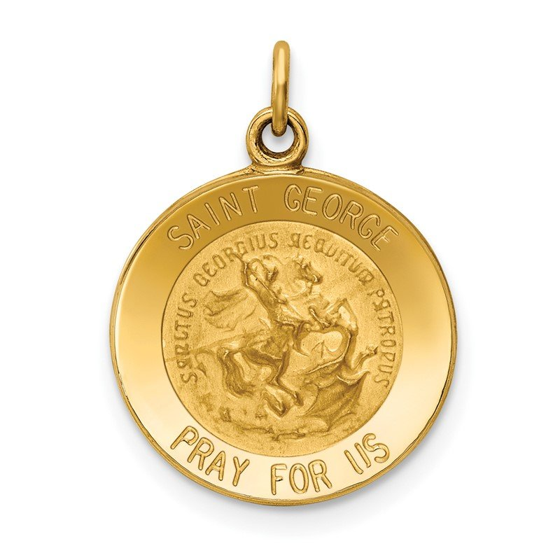 Quality Gold 14k Saint George Medal Charm