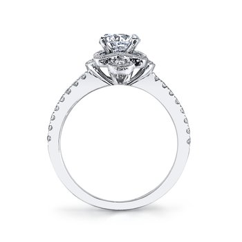 MARS 25871 Diamond Engagement Ring 0.31 Ctw.
