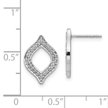 14k White Gold Diamond Fancy Post Earrings