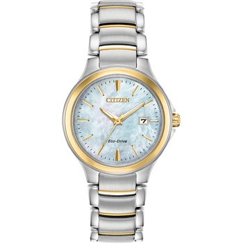 CHANDLER - Ladies Citizen Eco-Drive Silver Pearl Face Watch
