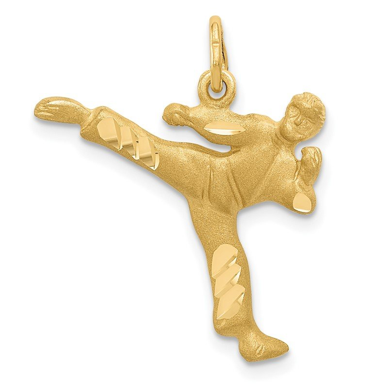 Quality Gold 14k Male Karate Charm