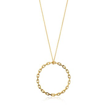 Chain Circle Pendant Necklace
