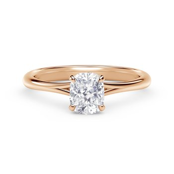 Forevermark Icon™ Setting Cushion Engagement Ring with Diamond Basket