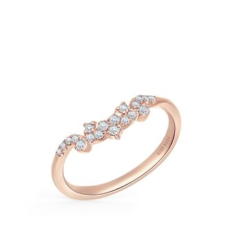 Crown Delicate Diamond Wedding Band