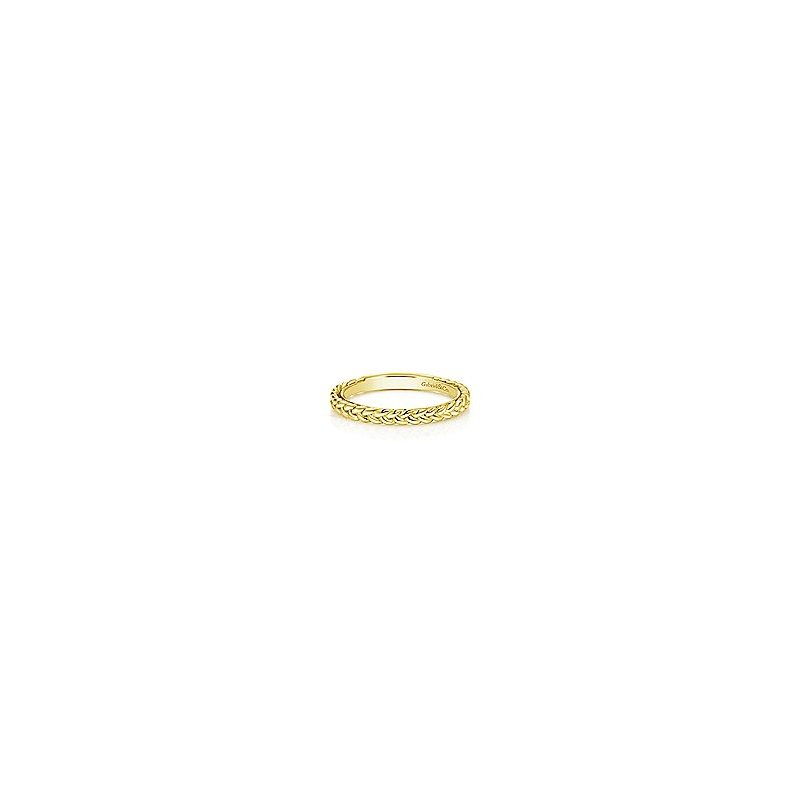Amavida 14k Yellow Gold Braided Stackable Ring