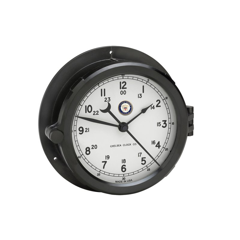 Chelsea Clocks US Navy Patriot Deck Clock - White Dial