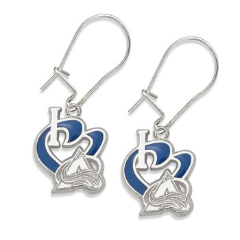 Sterling Silver Colorado Avalanche NHL Earrings