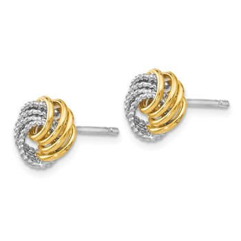 Leslie's 14k Two-tone D/C Love Knot Earrings