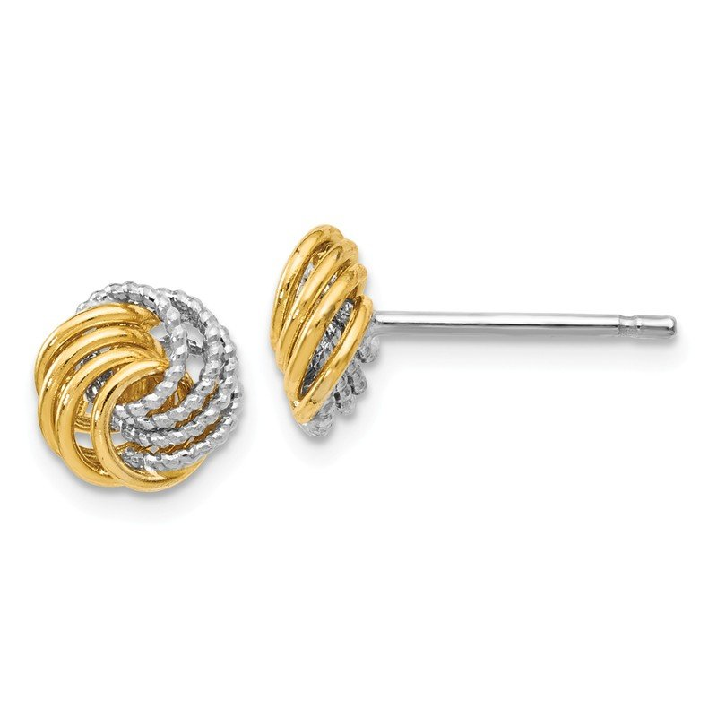 Leslie's Leslie's 14K Two-tone D/C Love Knot Earrings