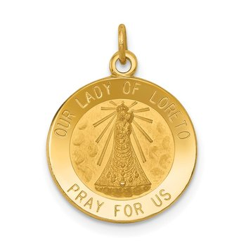 14k Our Lady of Loreto Medal Charm