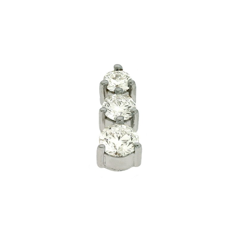 Briana Three Stone Prong Charm