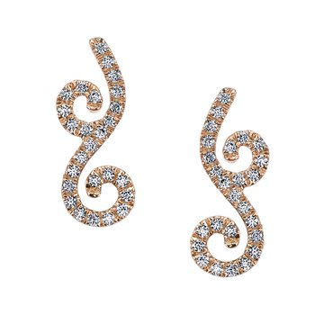 MARS 26612 Fashion Earrings, 0.28 Ctw.