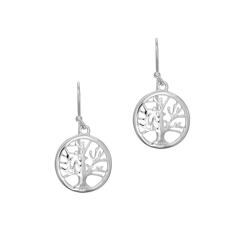 Royal Chain Silver Mini Tree of Life Earring