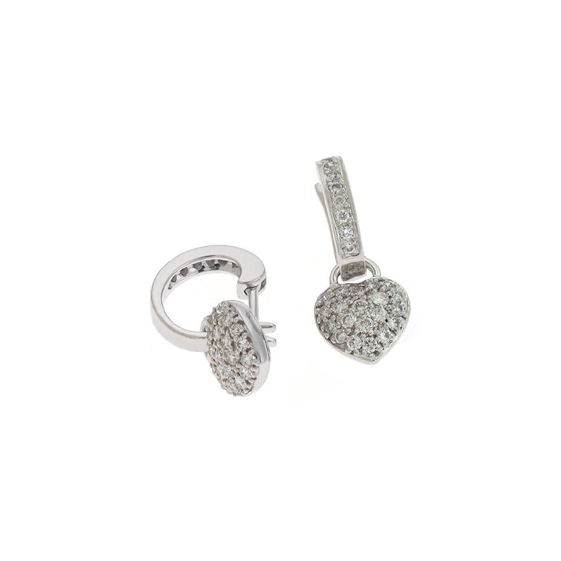 S. Kashi  & Sons White Gold Heart Earring