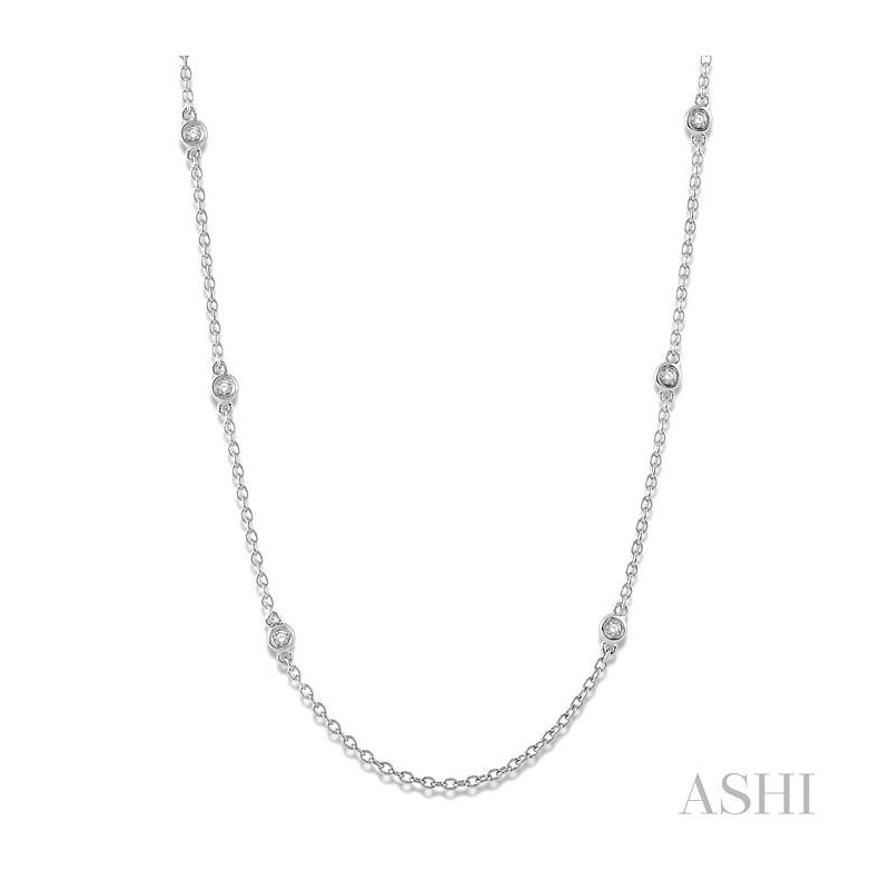 ASHI diamond station necklace