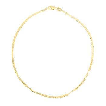 14K Gold 1.7mm Mariner Chain