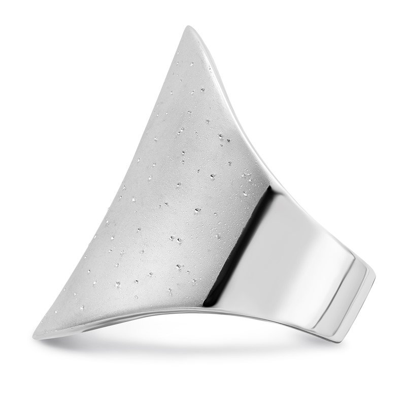 Leslie's Leslie's Sterling Silver Rhodium-plated Radiant Essence Ring