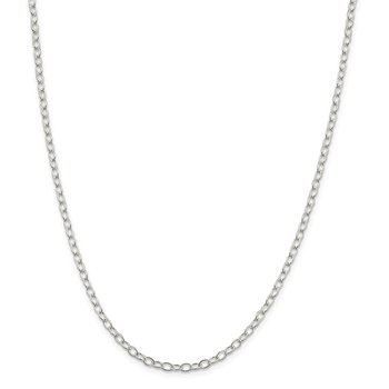 Sterling Silver 3.4mm Oval Cable Chain