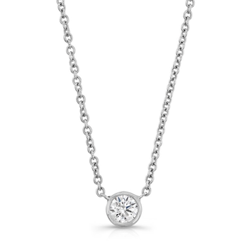 Forevermark Tribute White Gold Round Diamond Necklace