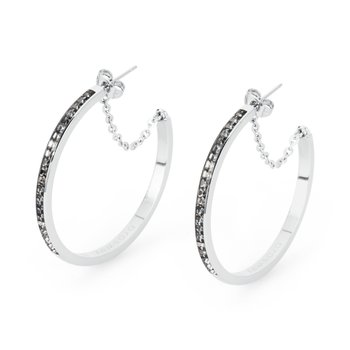 316L stainless steel and silver night Swarovski® Elements